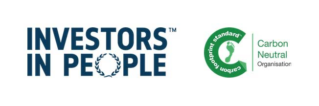 Investors in people and Carbon Neutral Organisation logos